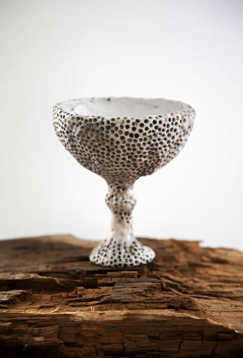 Tableware by Marina Akilova seen at Private Residence, Moscow - LUNA vine glass