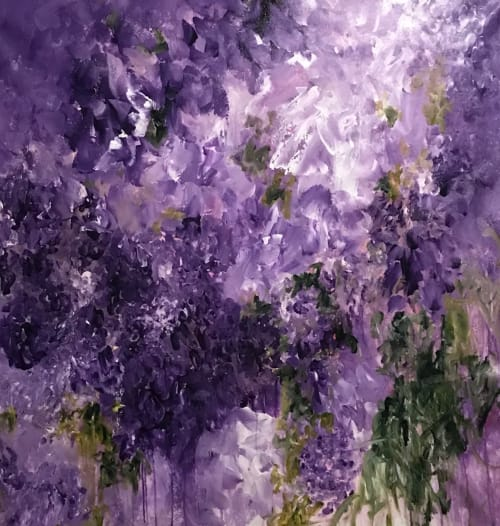 Paintings by Darlene Watson Fine Artist seen at Private Residence, Churchville - Purple Wisteria Not Just In Monet's Garden