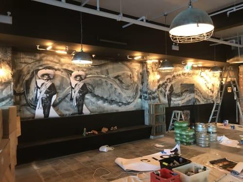 Murals by Arnie Arnold seen at Contrabando, Sydney - Contrabando Restaurant Mural