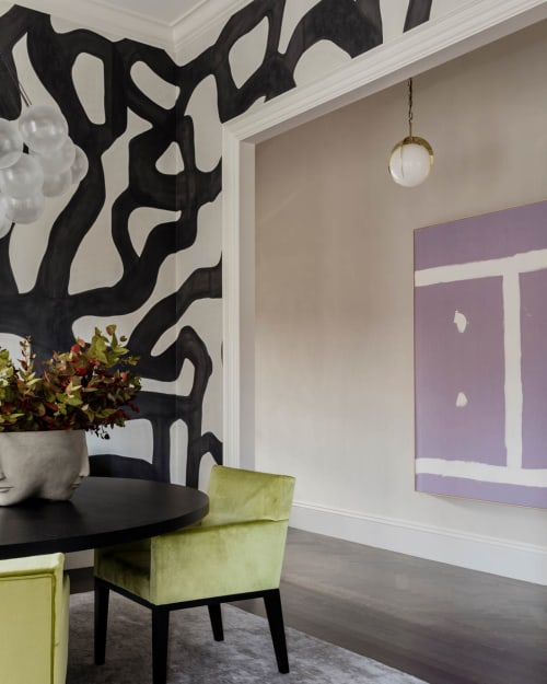 Wallpaper by Porter Teleo at Beacon Street Residence, Boston - Custom Tangled Wallcovering