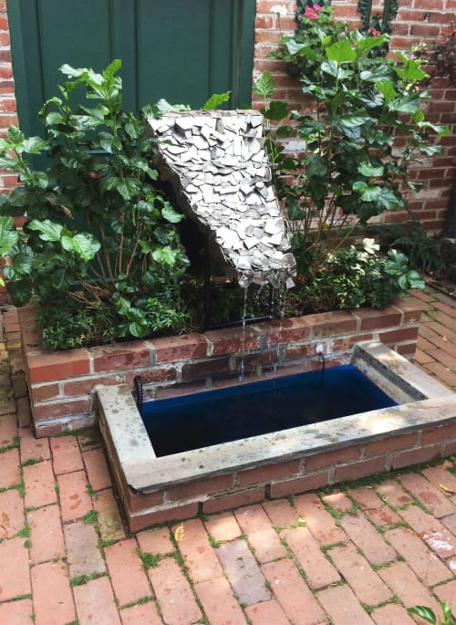 Sculptures by Chris Erney seen at Private Residence, Washington - Steel Fountain