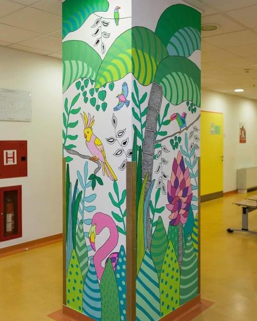 Murals by Melinda Šefčić at University Hospital Centre Zagreb, Zagreb - Happy Community