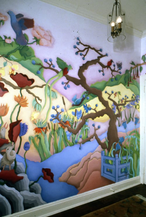 Murals by Beth Shadur seen at Private Residence, Chicago - Mural for entry of private condominium
