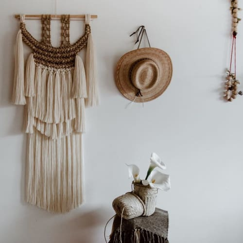 Macrame Wall Hanging by Ranran Design by Belen Senra seen at Private Residence, Bondi Beach - Indiginous Wall Hanging