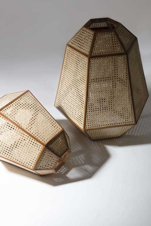 Lamps by 1Nayef Francis seen at Nayef Francis Design Studio, Beirut - The Weave Lamps