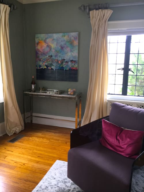 "Paintings by Benna Holden seen at Private Residence - Ridgefield, NJ, Ridgefield - ""Ebb and Flow Painting"""