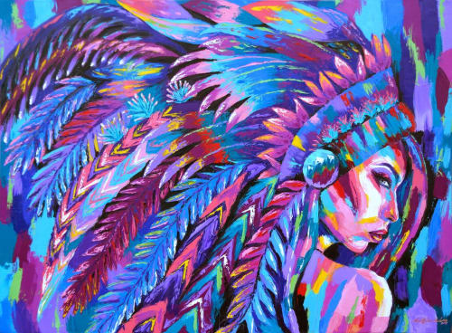 Paintings by Electric Elaine seen at Private Residence, Denver - All Love, All Feathers