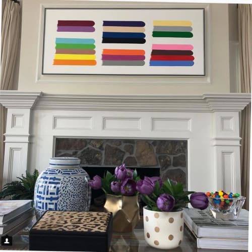 Paintings by Jessica Snow seen at Private Residence, Denver - Color Stacks, Tripled
