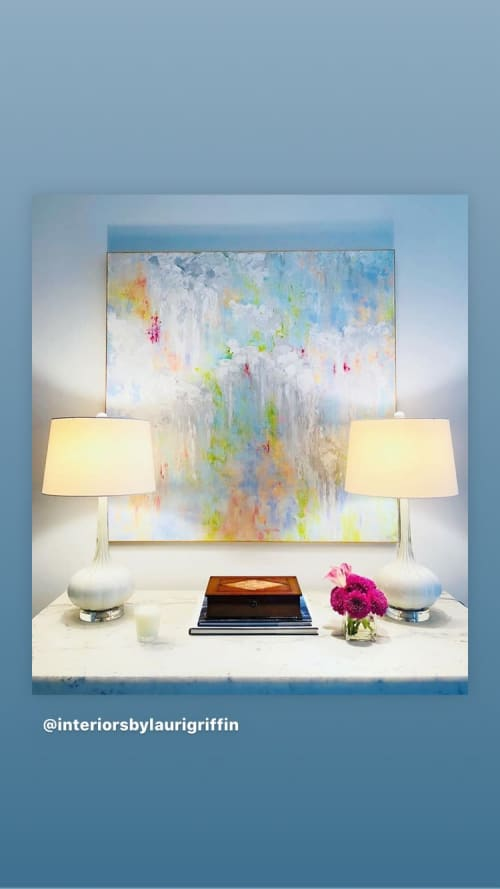Paintings by Cheryl Rhodes seen at Private Residence, Dallas - 'Contentment'