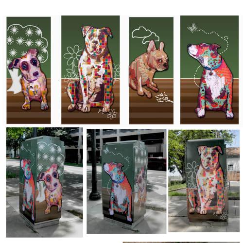 Street Murals by Kerri Warner seen at Sacramento, Sacramento - Utility Box art wrap