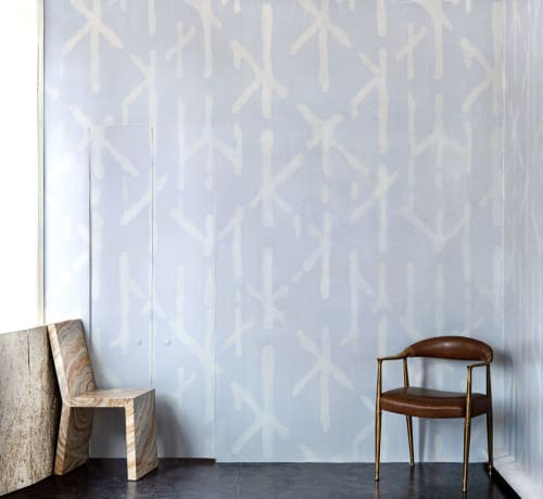 Wallpaper by The Alpha Workshops seen at Chelsea, Manhattan, New York, NY, USA, New York - Traces Hand-Painted Wallpaper