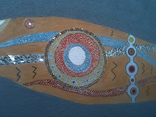 Mosaic Mural for Public Amphitheatre   Public Mosaics by Julian Phillips Mosaic   George in George