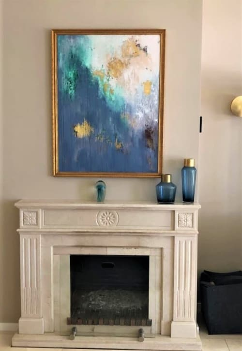 Paintings by Julija Saler seen at Private Residence, Starnberg - Golden Times