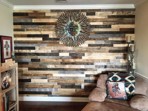 Art & Wall Decor by Forested Way seen at Private Residence, Clifton - Pallet Wood Installation