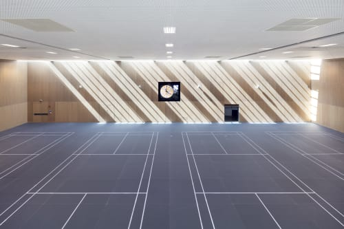 Architecture by ASB GlassFloor seen at University of Oxford, Oxford - Acer Nethercott Sports Hall | Oxford University