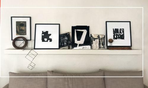 BLACK LINE CRAZY | Designed by Mary van de Wiel - Art and Linens & Bedding