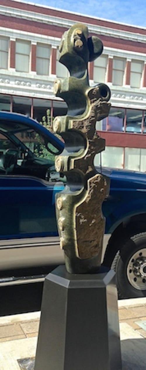 Public Sculptures by Dave Haslett seen at 16869 SW 65th Ave, Lake Oswego - Vertebra:Ocean Verde
