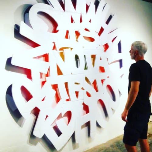 Art & Wall Decor by Ashwan seen at BienCuadrado Art Gallery, Barcelona - Now What You Hear Is Not A Test