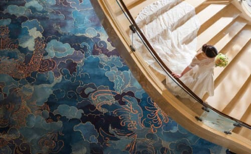 Rugs by J&P Carpets Consultant seen at Shangri-La Hotel, Beijing, Haidian Qu - Hand tuft wall-to-wall carpet
