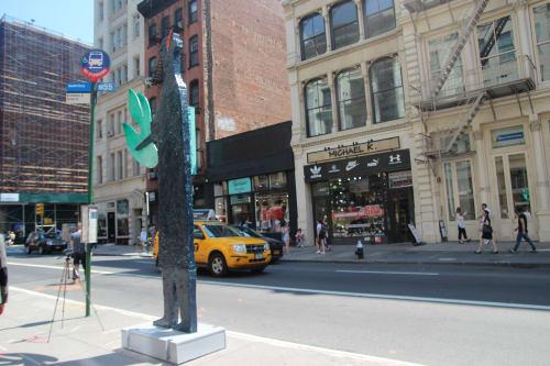 Public Sculptures by Zigi Ben-Haim seen at SoHo, New York - Treasure the Green