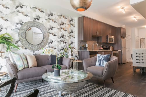 Interior Design by ANA Interiors Ltd seen at My Legacy Park Sales Centre, Calgary - Interior Design