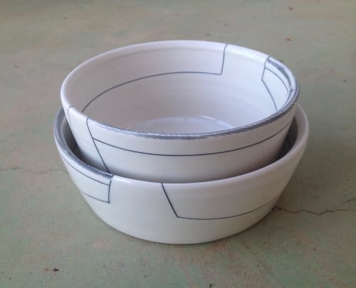 Tableware by Amy Halko Ceramics seen at Private Residence - Dog bowls