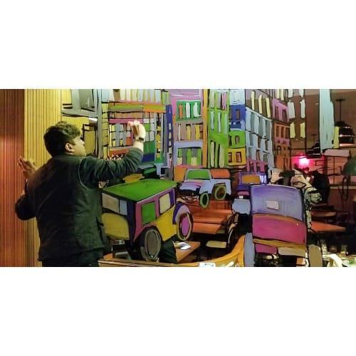 Murals by Nicholai Khan seen at Pomona, New York - mural