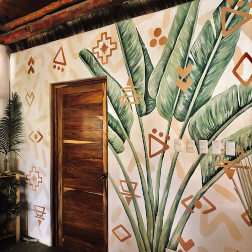 Murals by pepallama seen at Swell Surf & Lifestyle Hotel - Tropical Murals