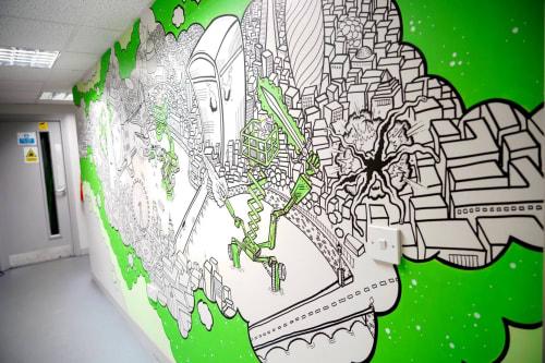 Murals by Chiba Creative seen at Elavation, Wolverton - Indoor Mural