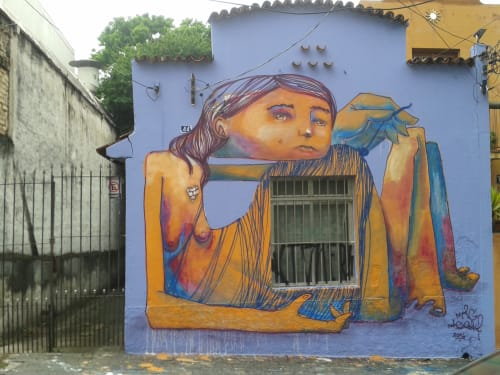 Street Murals by MAG MAGRELA seen at State of São Paulo - ESSE LAÇO EU DESFAÇO DESDE QUE ME ENTENDO POR GENTE