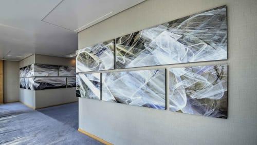 "Murals by Rica Belna at Shangri-la Hotel Dubai, Dubai - Art-series ""Haze"" Wall Panoramas, Shangri-La, Dubai"