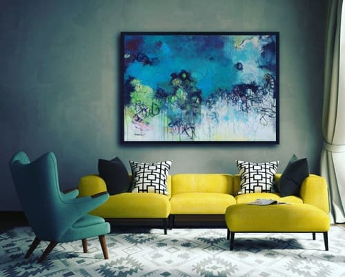 """Paintings by Laurie Maves ART seen at Private Residence, Sarasota - """"We All Become Caretakers Eventually"""""""