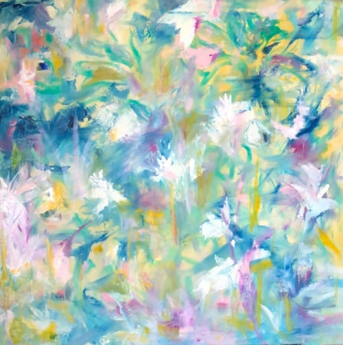 Art & Wall Decor by Vicki P. Maguire seen at Private Residence - Two Oil Paintings