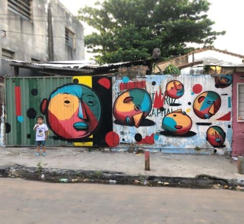 Street Murals by Lucas We! seen at Dr. Ricardo Brugada, Asunción - Street Mural