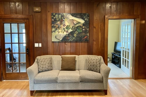 Paintings by Audrey Frank Anastasi seen at Private Residence, Westbury - Eve Fleeing Eden
