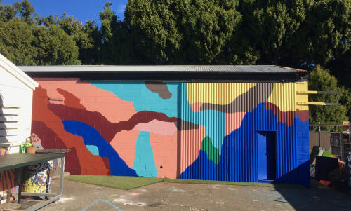 """Murals by Katie Whyte seen at First Coat Studios, Toowoomba City - """"Lay Off the Drugs"""""""