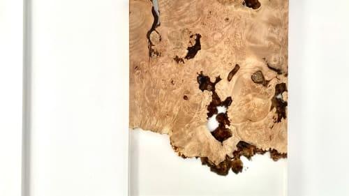 Wall Hangings by SAW Live Edge seen at Creator's Studio, Kimberley - Big Leaf Maple Resin River Art | Live Edge | Epoxy Art |