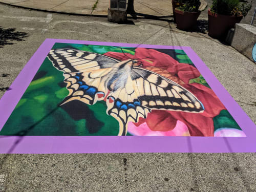 Murals by Hagopian Arts seen at Private Residence, Philadelphia - Eastern Tiger Swallowtail Butterfly Mural