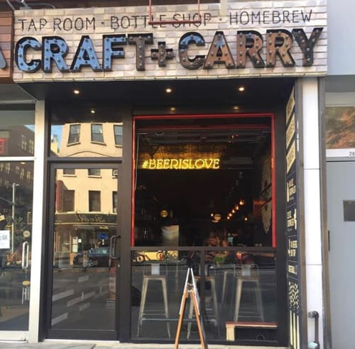 Signage by Vintage Marquee Lights seen at 284 3rd Ave, New York - CRAFT + CARRY Exterior Marquee Lights