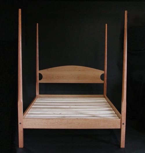 Beds & Accessories by Timothy Clark, Cabinetmaker/Chairwright seen at Private Residence, New York - Pencil Post Bed