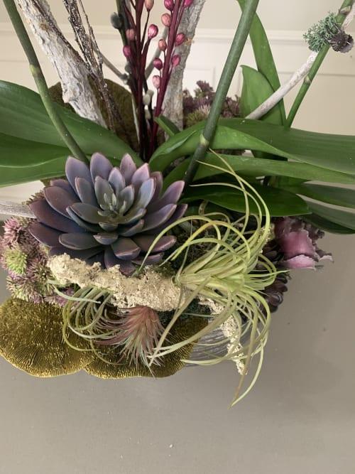 Floral Arrangements by Fleurina Designs at Hotel Los Gatos - A Greystone Hotel, Los Gatos - Vintage orchid arrangements