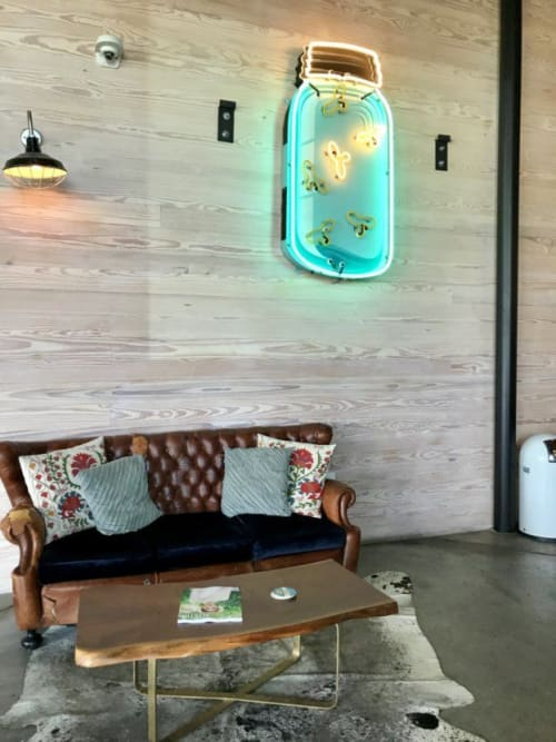 Art & Wall Decor by Todd Sanders seen at Deep Eddy Vodka Tasting Room, Dripping Springs - Mason Jar With Fireflies