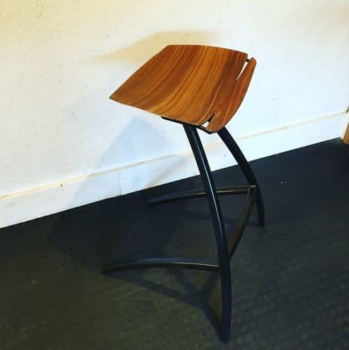 Chairs by Blue Barn seen at La Brasa, Somerville - 'La Brasa' bar stool