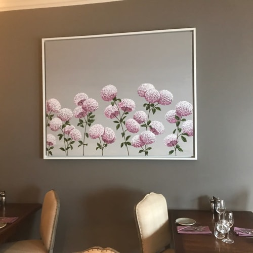 Paintings by Mary-Ann Watt seen at The Northgate, Bury Saint Edmunds - Floral Painting