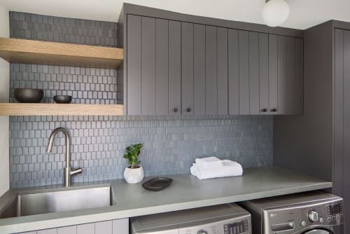 Interior Design by Kelly Martin Interiors seen at Private Residence, Los Angeles - Highland Park Laundry Room