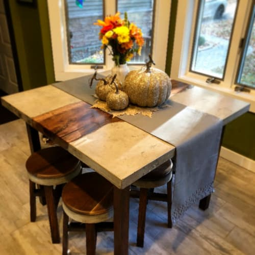 Tables by Koppen Woodworks seen at Private Residence, Cleveland - Square Table