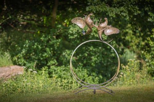 Public Sculptures by Simon Gudgeon Sculpture seen at Sculpture By The Lakes, Dorchester - Duel by Simon Gudgeon