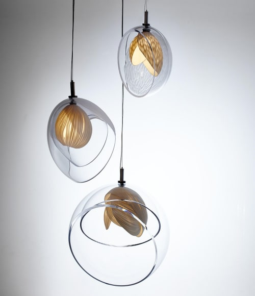 Pendants by Vezzini & Chen seen at Private Residence, London - Gem lights