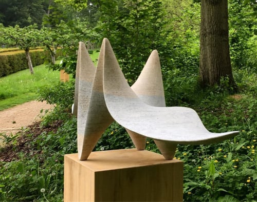 Sculptures by Guy Stevens seen at Painswick Rococo Garden, Painswick - Onda