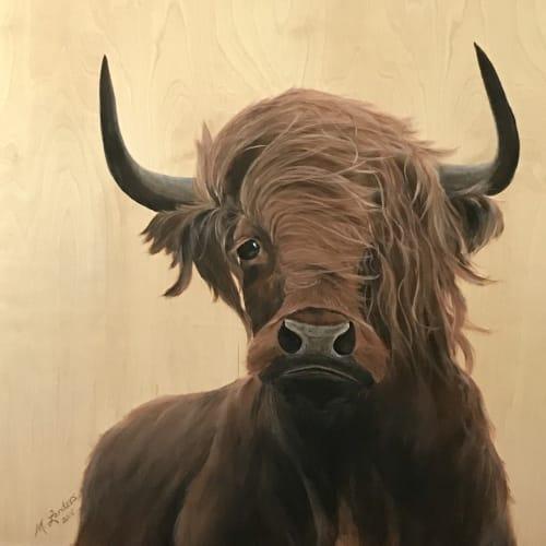 Major Bull   Paintings by Marilyn Landers